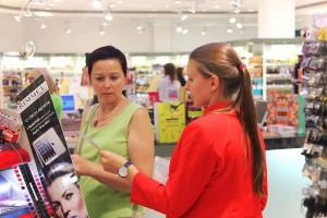 консультации в магазине косметики