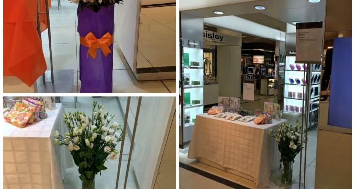 оформление магазина цветами