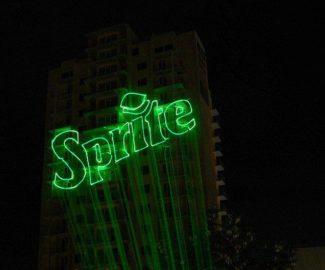 Лазерная реклама Спрайт